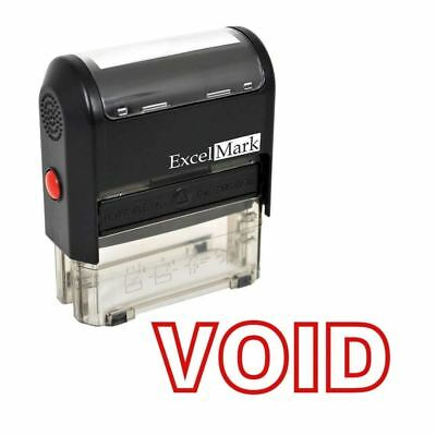 NEW ExcelMark VOID Self Inking Rubber Stamp A1539 | Red Ink