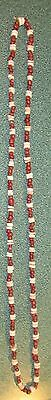 Indian Artifacts 255 Indian Red Glass Shell Beaded Necklace 1700S California