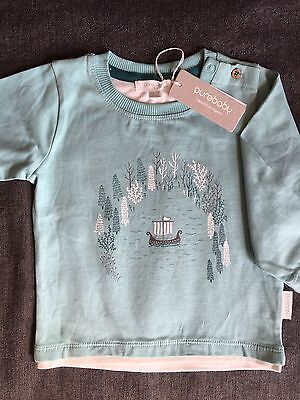 PURE BABY Boys Long Sleeve Top SIZE 1 RRP$34.95