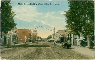 (3) c1910 Miles City Montana Main Street & 2 of Horse Sale Yards