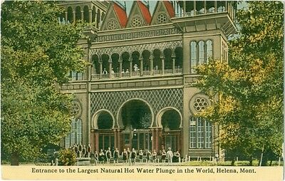 c1910 Helena Montana Largest Natural Hot Water Plunge in World Ornate Bldg.
