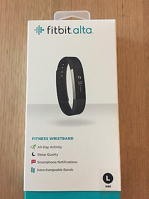 Fitbit Alta Activity Tracker Black Large + Spare Charger
