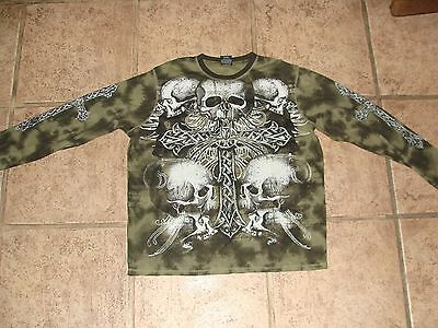 Mma Elite Skull Graphic Long Sleeve Shirt - Size 2Xl