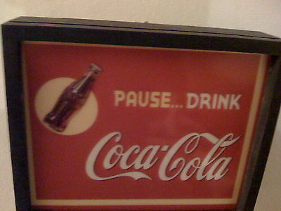 ^^^ Coca Cola Coke Pause Drink Soda Fountain Diner Man Cave Lighted Sign