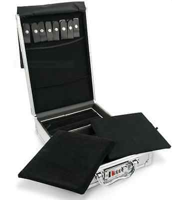 Small Aluminum Jewelry Attache Display Travel Case & Locks