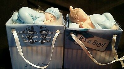 Set Of Baby Boy Angel Star Newborn Gifts to Go Shower Party New Parents NIP
