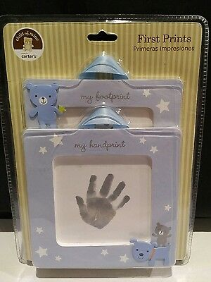 """Carter's Baby's First Print KIT HAND FOOT FRAMES (2) Child of Mine 5.5"""" INK PAD"""