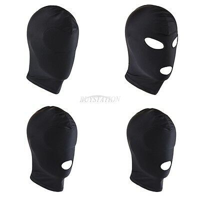 Halloween Blindfold Face Mask Hood Mouth Opening Head Eye Role Play Costumes
