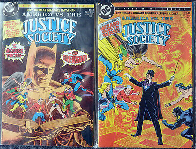 America vs the Justice Society 1986 Limited Series 4 Issues Complete High Grade!