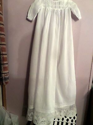 Early 1900's  Antique Victorian Christening Gown Long Baby Dress 35 1/2 LONG