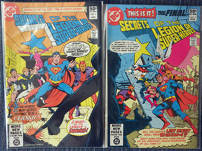 Secrets of the Legions of Super-Heroes 1981 3 Issues Complete High Grade!