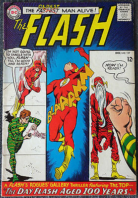 The Flash #157 - The Day Flash Aged 100 Years! The Top!