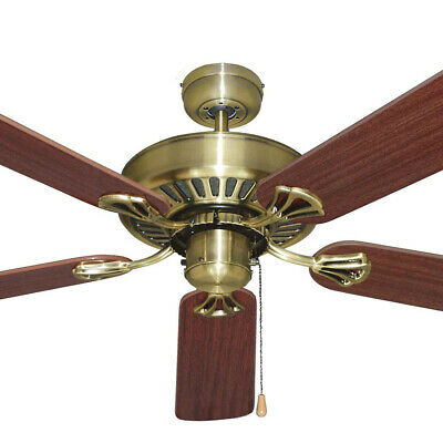 """NEW Mercator Hayman 52"""" Antique Traditional Style Five Blade Ceiling Fan"""