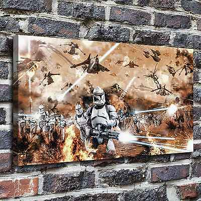 "12""x22""Star Wars Paintings Print on Canvas Home Decor Wall Art Pictures posters"