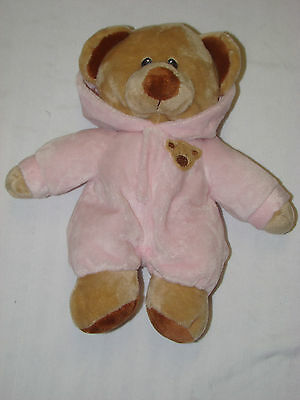 """Ty Pluffies Pj Teddy Bear 10"""" Plush Toy Non Removeable Pajamas Beanie Baby"""