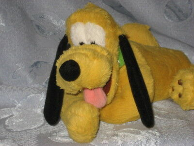 "Disney Pluto dog, stuffed toy with pellets, 9"" long, very cute"