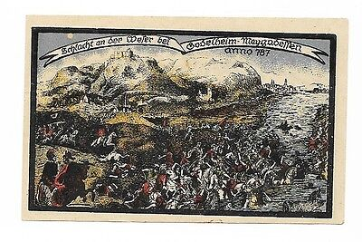 **1921 GODELHEIM Germany Banknote- RIVER BATTLE OF 787 ~ 1 Mark German Notgeld