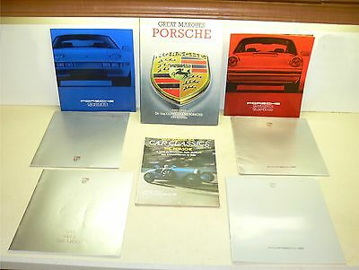 Porsche sales brochure lot-porsche book collection-911 sc turbo 928 944 carrera