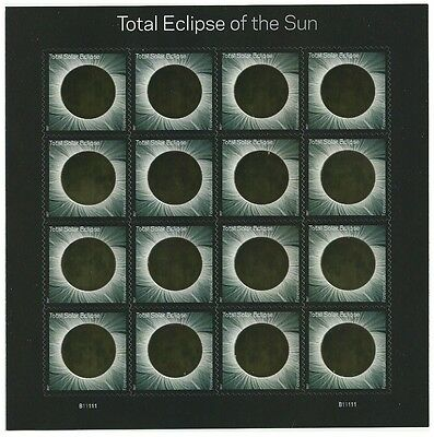 SOLAR ECLIPSE 2017 Souv. Sheet 16  No Scott Yet 49c Forever Thermo-chromatic ink