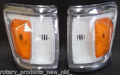 Toyota Hilux Sr5 Ln106 4Wd 4X4 Chrome Front Corner Indicator Lights Pair 061