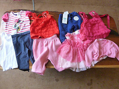 Small Bulk Lot 20 Pieces, Girls Babies Clothes, Size 0000, Excellent Condition.