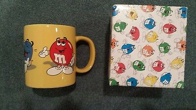 New in Box 1996 Vintage Collectible M&Ms Mars Yellow Coffee Mug