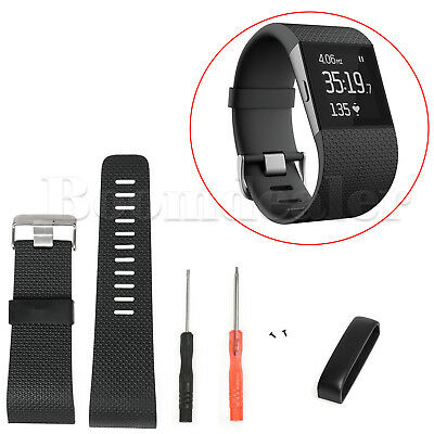 Silicone Replacement Band Wrist Strap Wristband w/Tool For Fitbit Surge Tracker
