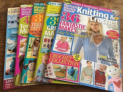 4x Woman's Weekly Knitting & Crochet Special and 1 Knitting & Crochet Magazine