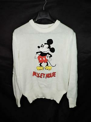 Vintage Walt Disney M Mens Mickey Mouse Sweater Character Fashions Knit Shirt