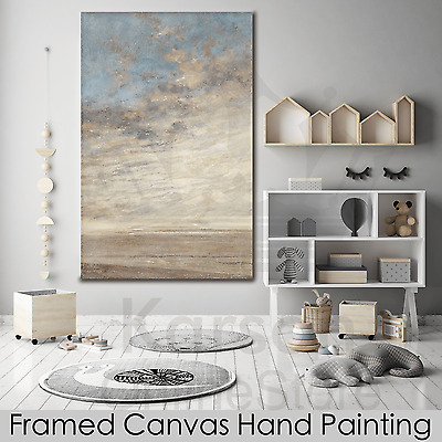 *Abstract Sky* Hand Painted Oil Painting Stretched Canvas Ready to Hang Wall Art
