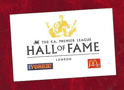 The Premier League Football Hall of Fame ticket approx 1999