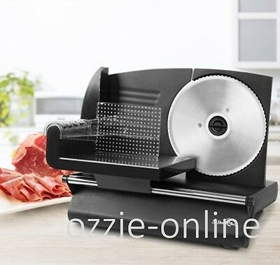 Electric Meat Slicer Deli Slicing Machine 19cm Stainless Steel Blade Cut 1-15mm