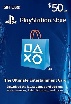 $50 PlayStation Store Gift Card - PS3/ PS4/ PS Vita-Email delivery Fast