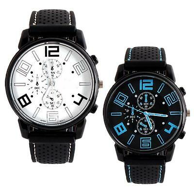 Men Fashion & Casual Stainless Steel Sport Cool Quartz Hours Wrist Analog Watch