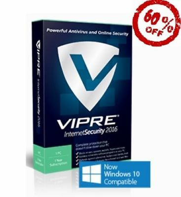 VIPRE Internet Security (latest version) (License Only) (1 PC) (1 Year)