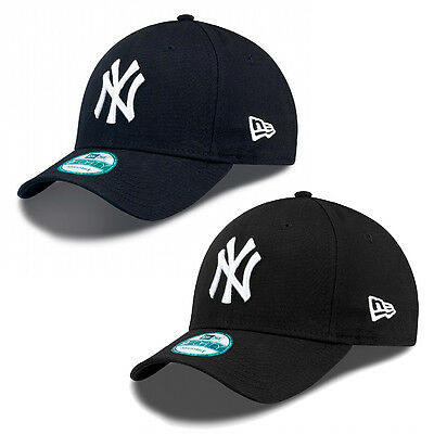 New Era Curved Peak Cap 9Forty Classic NY Yankees Hat Black & Navy **BNWT**