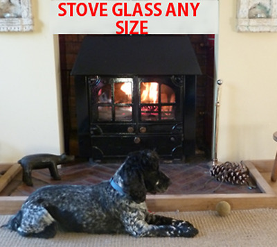 Franco Belge Stove Glass - Heat Resistant Stove Glass - Various Models