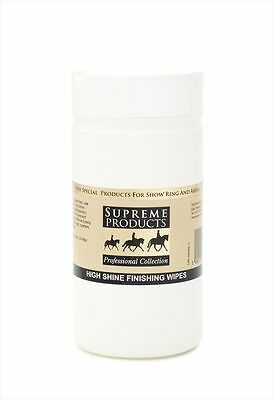 Supreme products high shine finishing coat enhancing wipes 100 - horse/pony care