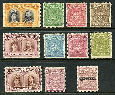 Rhodesia MM Lot 1898 - 1910 Period. Double Heads etc. Cat app £300