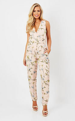 New Women's Ladies Floral Print Summer Jumpsuit