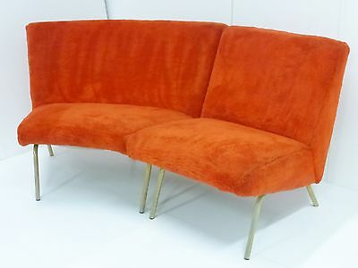 "Joseph-André Motte : Sofa Angle Model ""743"" 2 Modules Steiner 1950 Vintage"