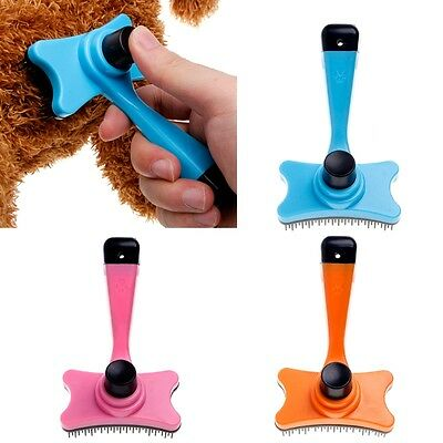 Pet Dog Cat Grooming Self Cleaning Slicker Brush Comb Shedding Tool Hair
