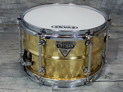 "Dixon Artisan Snare Hammered Brass 10"" x 6,5"" *TOP*"