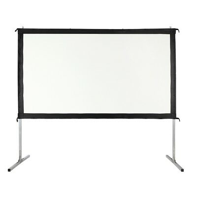 "Homegear Fast Fold Portable 120"" Projector Screen 16:9 HD for Indoor/Outdoor Use"