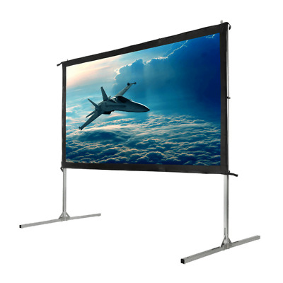 "Homegear Fast Fold Portable 90"" Projector Screen 16:9 HD for Indoor/Outdoor Use"