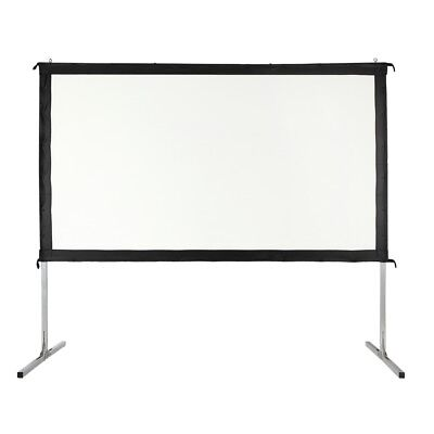 "Homegear Fast Fold Portable 110"" Projector Screen 16:9 HD for Indoor/Outdoor Use"