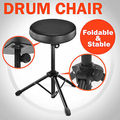 Drum Stool Chair Throne Piano Foldable Music Guitar Keyboard Padded Seat