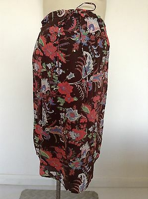 [411] Mamas & Papas Maternity Brown lined Skirt Size 8