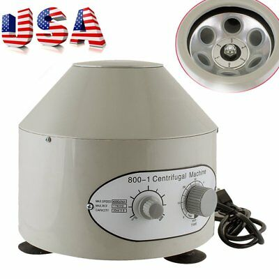 800-1 Electric Centrifuge Machine Lab Medical Practice 110V 4000 rpm 20ml x 6 BA