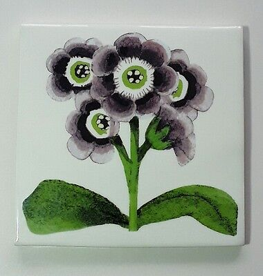 "Beautiful Rare Emma Bridgewater Auricula 6"" × 6"" Ceramic Tile"
